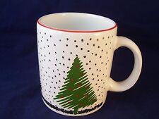 Waechtersbach White Christmas Coffee Mug Made in Spain Tree Snowflakes Retired