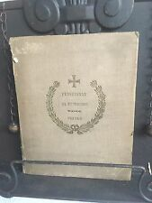Pensionnat Des Trinitaires Rses Privas  Writings 1892 Rare Find French