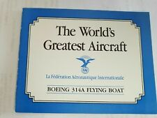 Franklin Mint Boeing 314A Flying Boat The Worlds Greatest Aircraft Original Coa