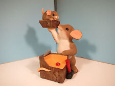 Charming Tails Mice-A Real Chip Off The Old Block- Mouse Figurine-New