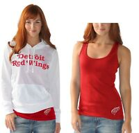 NEW WOMEN'S NHL DETROIT RED WINGS WHITE MESH HOODIE AND TANK TOP SHIRT SET!!!