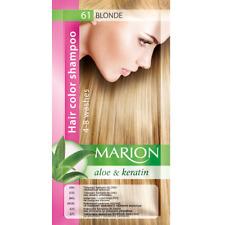 Marion Hair color shampoo sachet (lasting 4-8 washes) Aloe & Keratin 61