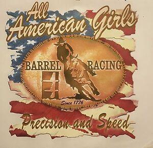 BARREL RACING PRECISION & SPEED COWGIRL WESTERN #1219 LONG SLEEVES SHIRT