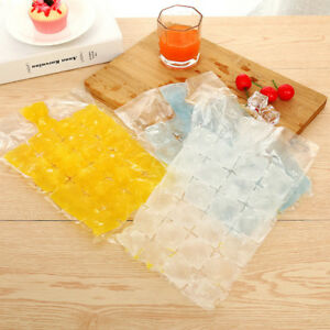 Clear Disposable Bag Ice Cube Bags Fridge Freezer Plastic BBQ Party Cubes Maker