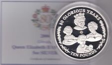 2006 GIBRALTAR BOXED 5 OUNCE SILVER PROOF £10 QUEEN ELIZABETH II 80TH BIRTHDAY