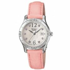 "Casio Sheen SHN4019LP-7A Womens Pink Leather Watch ""MOTHER OF PEARL"" Dial NEW"