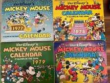 New listing Walt Disney's Mickey Mouse glow in the dark calendars