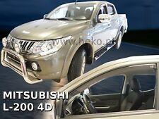 Mitsubishi L-200 4 portes 2015-prés Deflecteurs d'air Déflecteurs de vent 2pcs