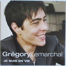 "GRÉGORY LEMARCHAL - CD SINGLE PROMO ""JE SUIS EN VIE"""