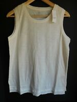 NWT Gap Women's Sleeveless Easy White Tank Top Side Hem Vents Sizes XS S M L New