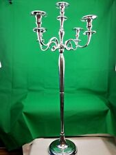 Metal Antique Traditional 5Arm Candelabra Aluminium Silver 60x60x128cm New Large