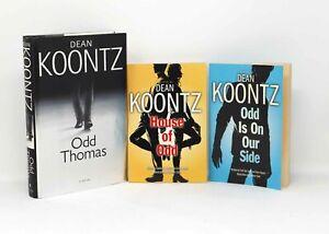 Dean Koontz, ODD THOMAS, HC 1st, plus 2 ODD grahic novels, all signed