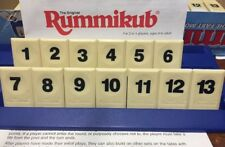 RUMMIKUB TIME RUMMY O Game Replacement Parts Set OF 13 Black Tiles 1 2 3 4 5 6 7