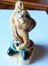 Stone ware ornament /figurine Rabbit Mountain climber with rope etc
