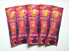 5 Designer Skin MELT 7X Bronzer Non Tingle Heat Indoor Tanning Lotion Packets