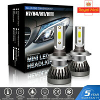 2X H1 H7 H4 H11/H8  LED Headlight 18000LM Car Bulbs Kit 6000k Canbus Error Free