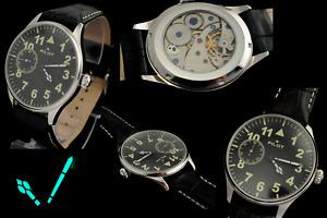 VINTAGE LARGE USSR Russian wristwatch MOLNIYA AVIATION STYLE USSR Skeleton