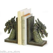 Gothic Decor Dungeons and DRAGONs Head Bookend Set NEW Game of Thrones Theme lik