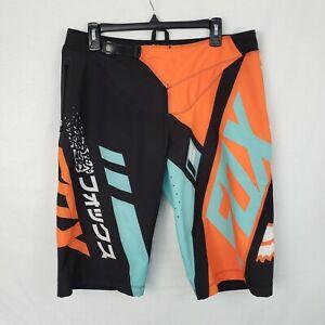 Fox Flexair DH 2016 Shorts Divizion Mountain Biking Shorts Black, Aqua, 34-36
