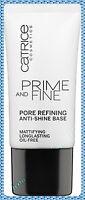 CATRICE PRIME AND FINE PORE REFINING ANTI - SHINE BASE/ LONG LASTING, OIL - FREE