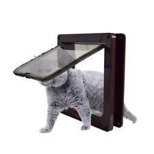 4-Way Pet Cat Dog Kitten M Lockable Safe Flap Door Plastic Gate Cat Pet Door