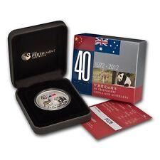 AUSTRALIA 2012 1 DOLAR  PLATA PROOF 1 ONZA 40 YEARS FRIENDSHIP CHINA AND AUSTRAL