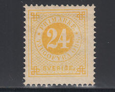 Sweden Sc 34a MLH. 1883 24ö lemon yellow Numeral, PF Cert.