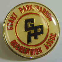 vintage enamel lapel pin grant park harrow recreation association camping 49833