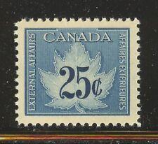 Canada #FCF1, 1949-1971 25c Maple Leaf - Consular Fee Revenue Stamp, Unused NH