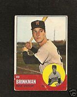 1963 Topps # 479 Ed Brinkman Vg-Ex