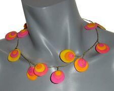 Bijoux de créateur pour femme COLLIER Sandr' Angelli doré rose jaune orange neuf
