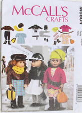 """18"""" GIRL DOLL CLOTHES McCall's Sewing Pattern 6804 American Made NEW Uncut"""