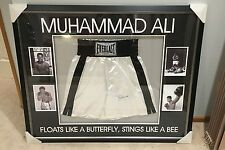 Muhammad Ali Signed Framed Boxing Trunks With COA