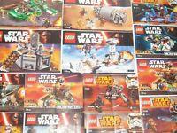 Lego ® Gros Lot Vrac 1 kilo Notice Plan Manuel Star Wars NEUF