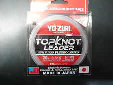 YO-ZURI TOPKNOT LEADER SUPER FLUOROCARBON 20lb 30yd R1229-DP Disappearing Pink