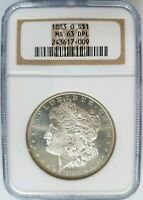 1883 O Silver Morgan Dollar NGC MS 63 DPL Deep Mirrors Proof Like PL DMPL Gem