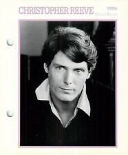 Christopher Reeve Actor Movie Star Card Photo Front Biography on Back 6 x 7""