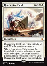 Mtg  QUARANTINE FIELD Battle for Zendikar mythic rare  Magic the Gathering card