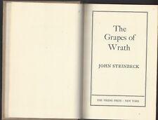 Uvas de la Ira por John Steinbeck 1º Ed Tapa Dura No Dj 1939 Vikingo