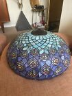 """Large Vintage Tiffany Style Peacock Lamp Shade 18"""" Across"""