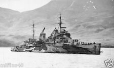ROYAL NAVY CROWN COLONY CLASS CRUISER HMS TRINIDAD AT HVALFJORD ICELAND IN 1942