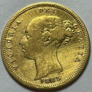 VICTORIA, HALF SOVEREIGN, 1885M, FINE