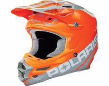 Polaris Fly F2 Podium Helmet Orange/Grey Size MEDIUM Snowmobile Helmet 286614303