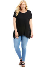 Women's Plus Size Short Sleeve Loose Fit T-Shirt, Casual Tunic Top Clothing
