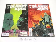 Exile On The Planet Of The Apes #3 & 4 Comic Lot Boom! 2012 Cover B 3B 4A Bechko