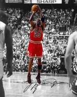 Michael Jordan Chicago Bulls the Last  Shot Signed reprint 8x10 photo Iconic