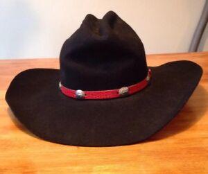 Eddy Bros Black Cowboy Hat - 100% Wool - 6 7/8