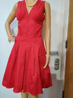 TED BAKER DRESS SIZE 2 UK 10 APPROX  RED 98% COTTON 2% ELASTANE
