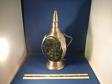 """Unusual Vintage Art Deco Grapes Wine Decanter """"How Dry I Am"""" Music Box"""