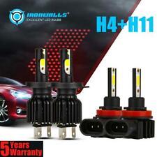 4x H4+H11 Combo LED Bulbs Headlights High Beam 2200W&Fog for Toyota 12-15 Tacoma